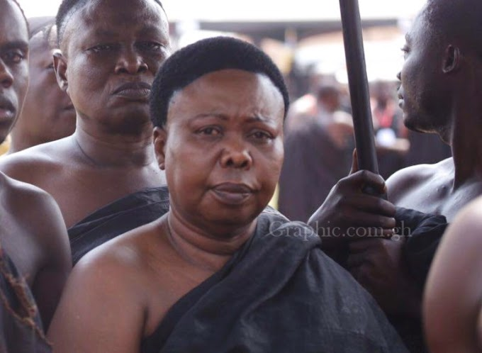 PHOTO: Meet the acting Asantehemaa, Osagyefo Bayie after burial of Asantehemaa