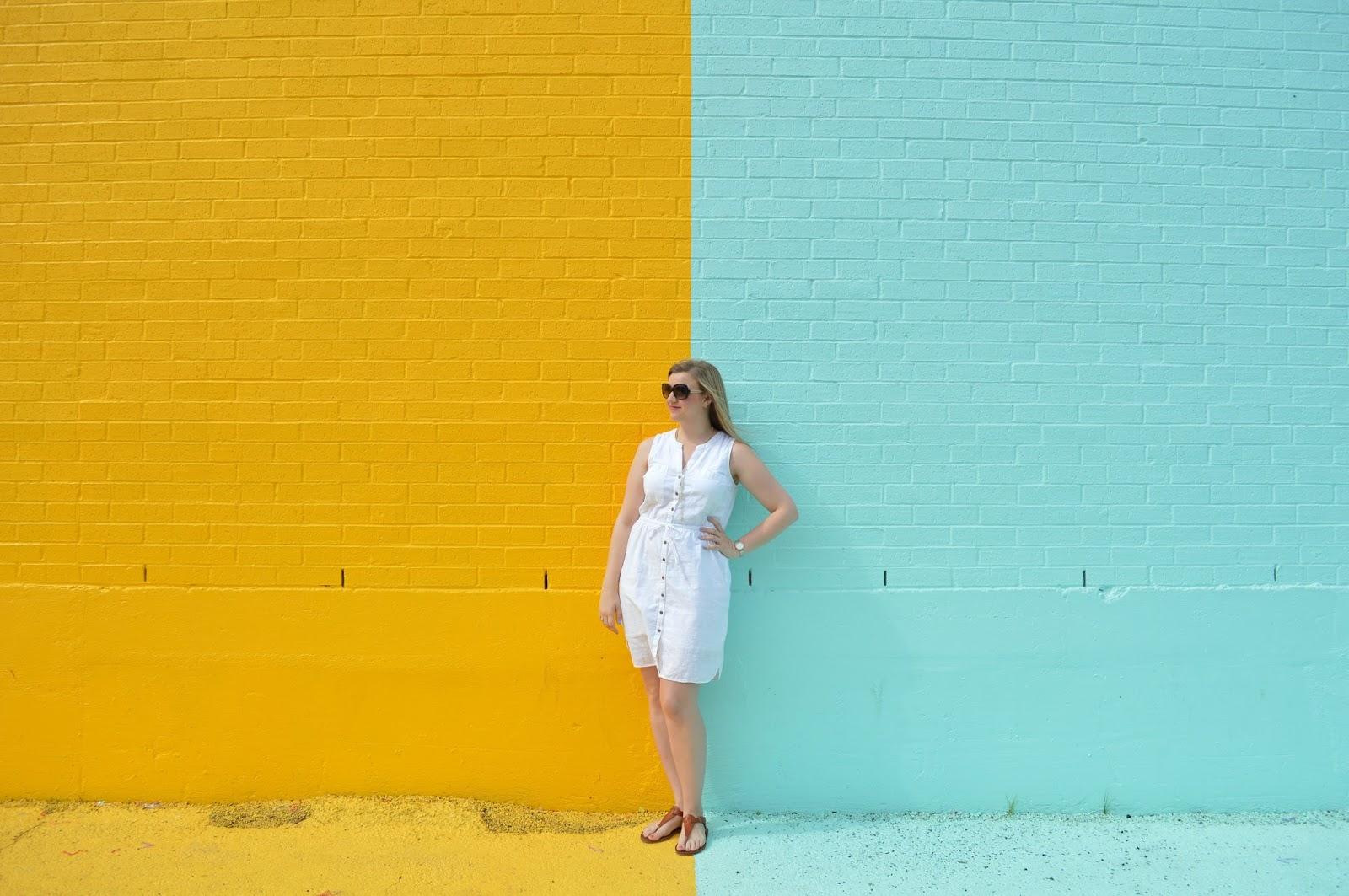 Exploring Houston: Sugar & Cloth Color Wall - Places I Will Go