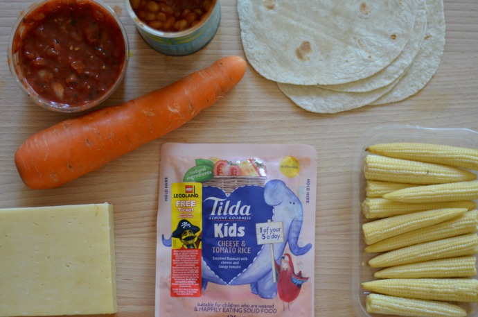 tilda kids rice, kids enchiladas