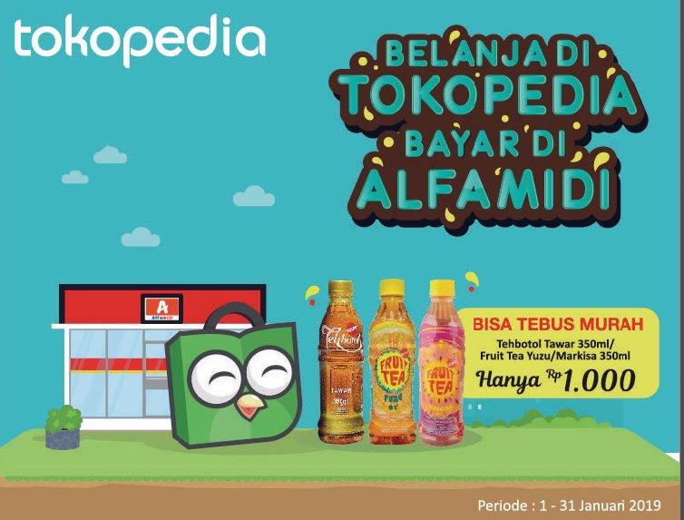 #Alfamidi - Promo Bayar Tokopedia Tebus Minuman Cuma 1K (s.d 31 Jan 2019)