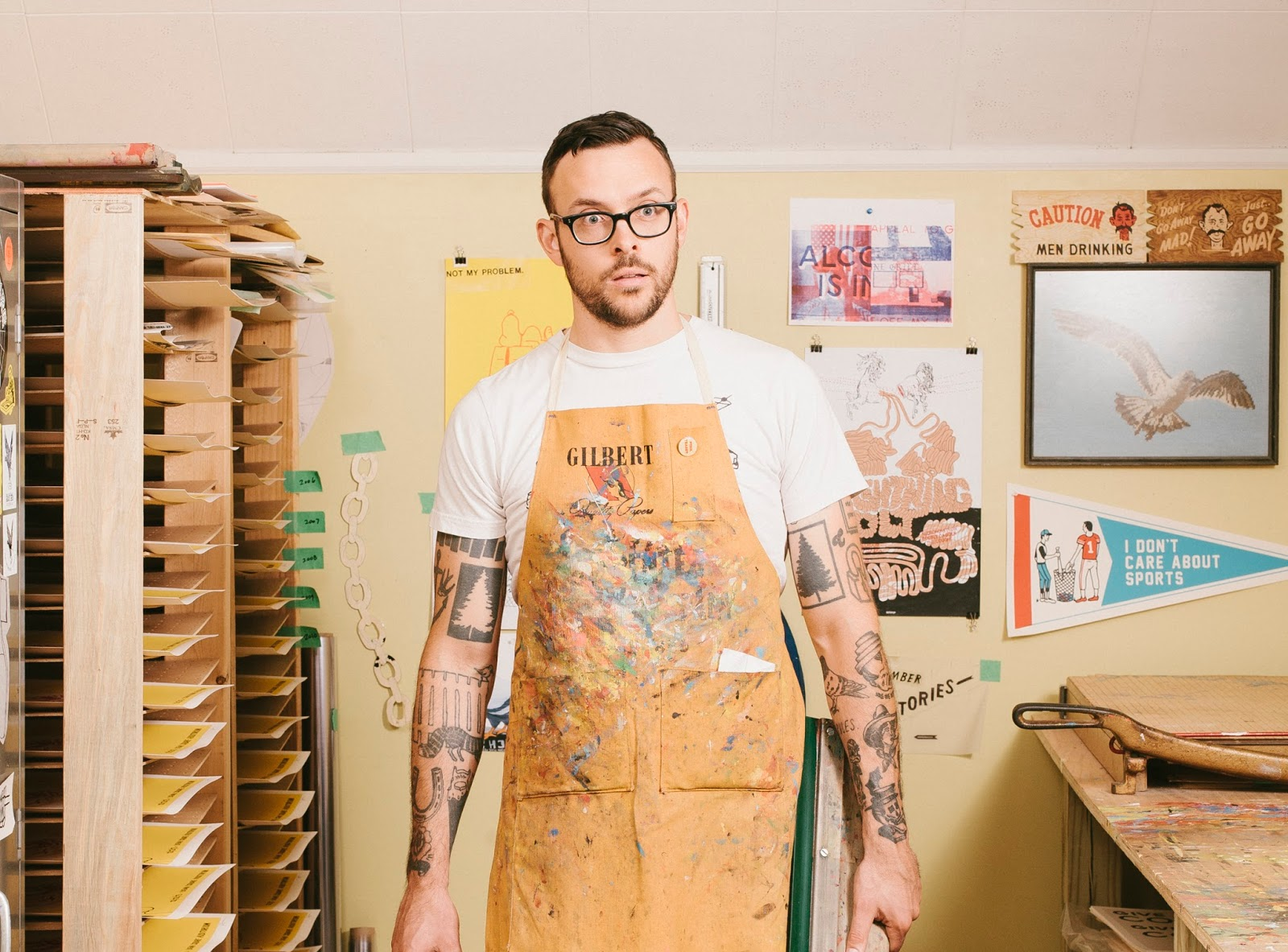 Known for his use of hand-drawn type, economic line work, and tacit humor,  Ryan's work has graced many fine surfaces of Chicago, as well as in Austin,  ...