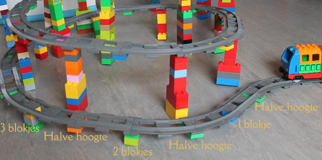 lego duplo treinbaan omhoog