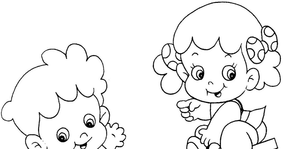 Desenho De Bonecos Para Colorir