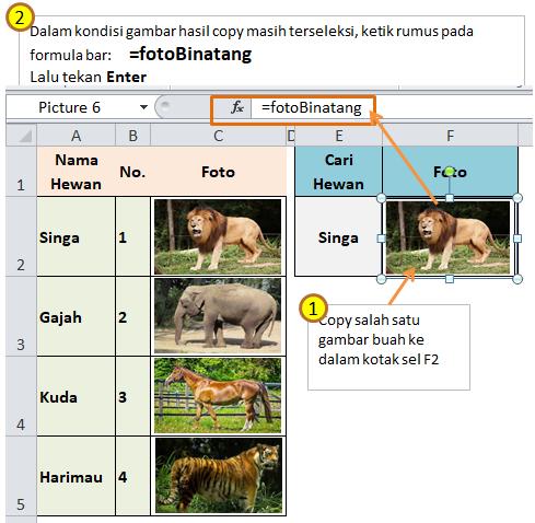 Cara Membuat Picture Link Excel