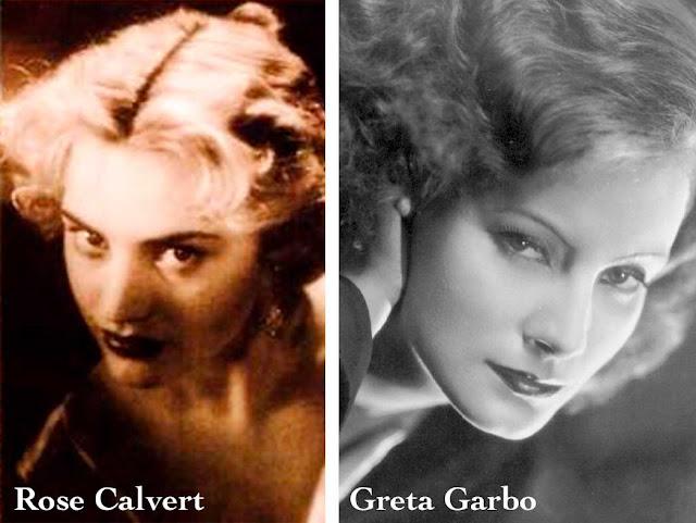 Rose Calvert e Greta Garbo