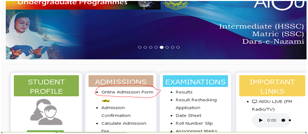 Allama iqbal unversity website