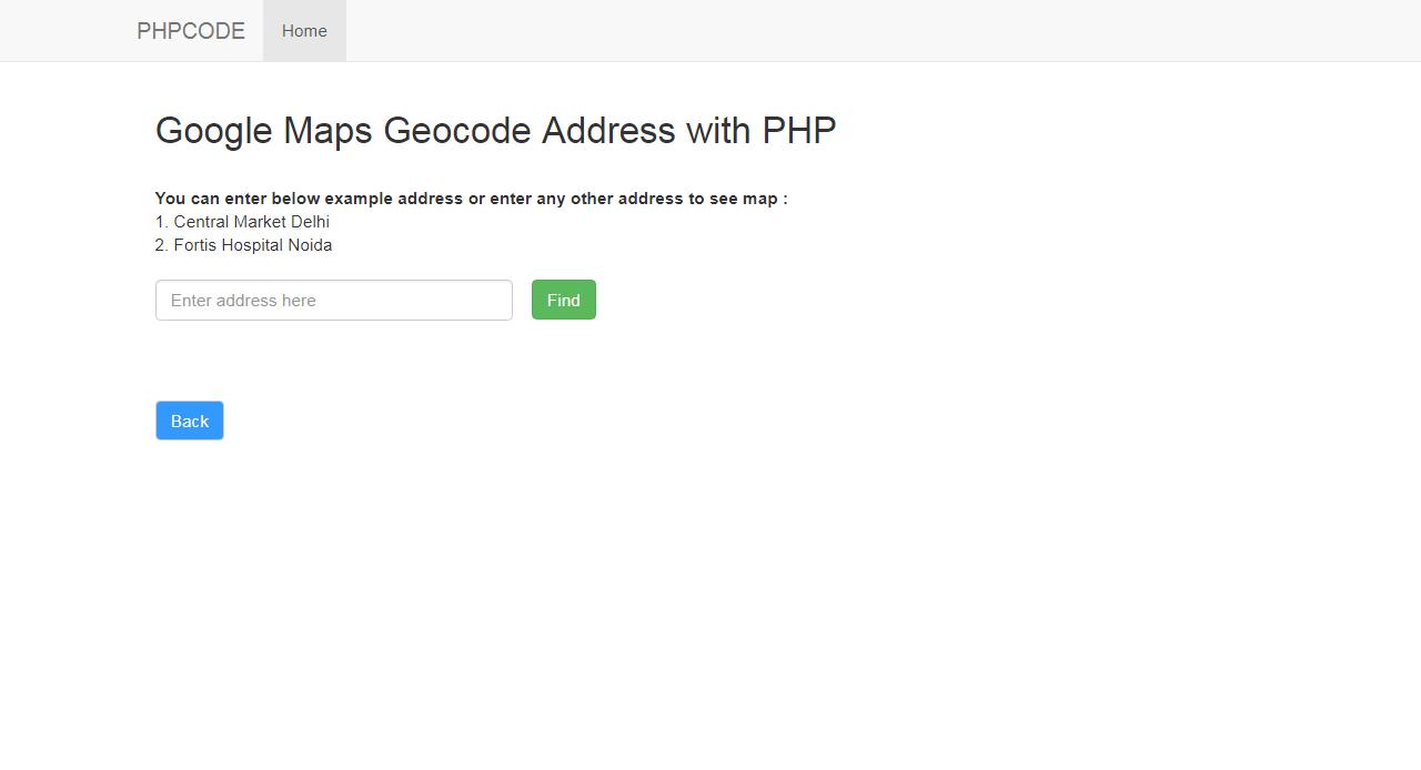 Code Google Maps Geocode Address with PHP on latitude longitude coordinates for address, store address, lawyer address,