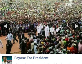 See Mass Crowd As Ekiti State Gov Fayose begins presidential campaign