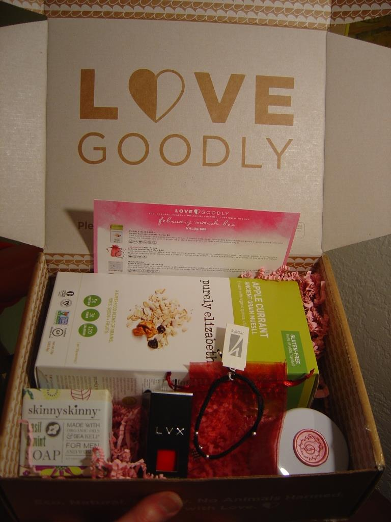 Love Goodly Vegan Lifestyle Subscription Box for February/March 2016