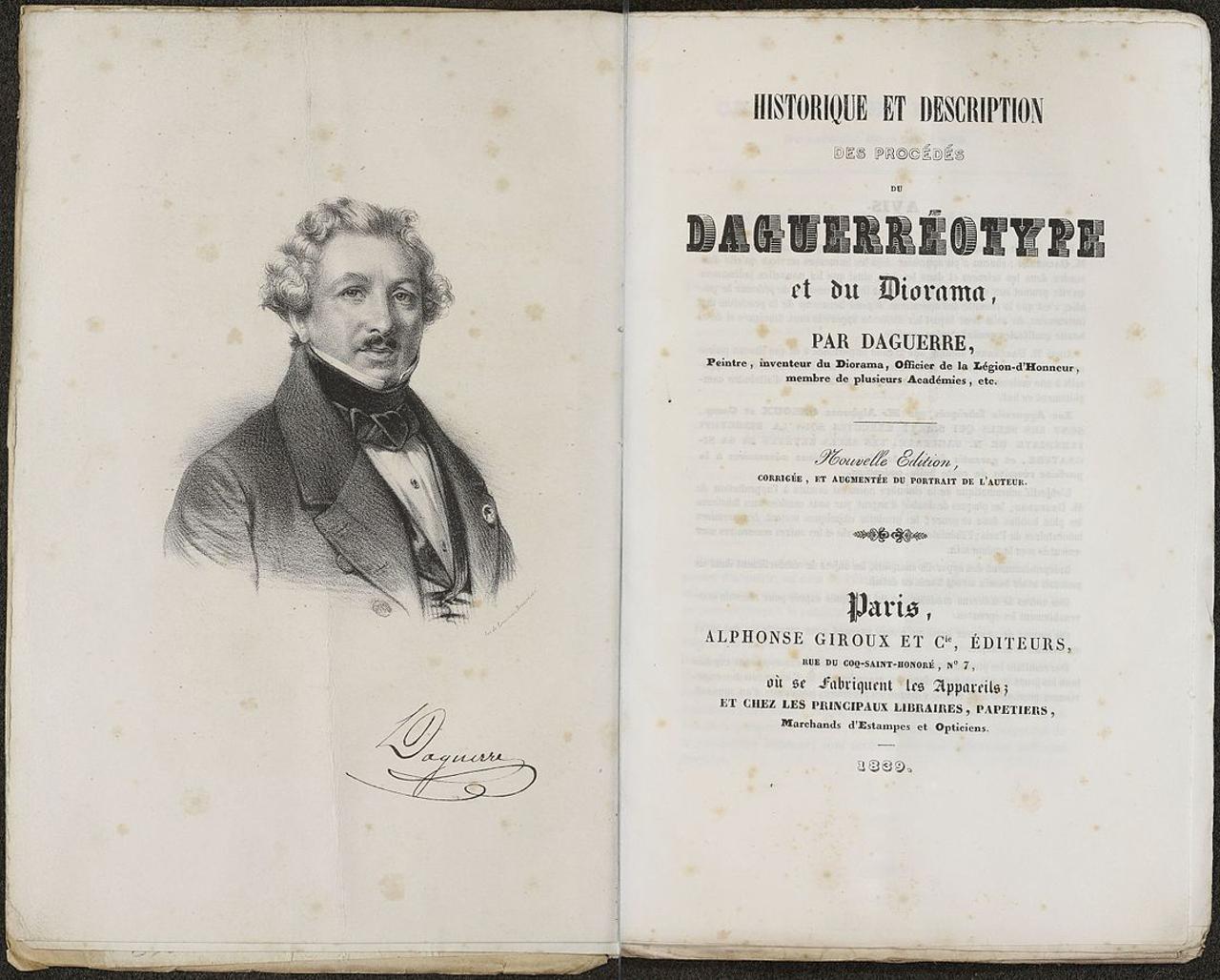Contra capa do manual do processo e uso do Daguerreótipo