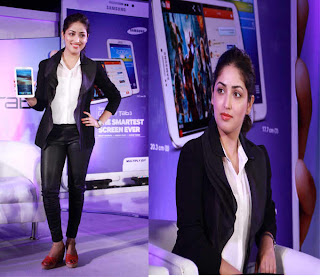 Yami Gautam Unveil the Samsung Galaxy Tab 3 in Delhi
