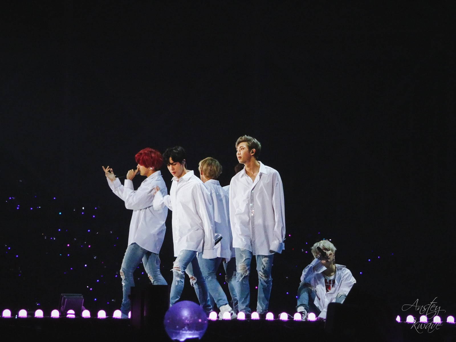 BTS famous Korean k-pop boy band performing on stage at Melon Music Awards (MMA) 2017 in Seoul, South Korea