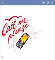 Call me Facebook sticker