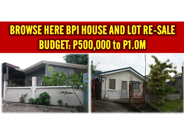Bpi bank house resell of house assets for budget p500 000 for Small house design worth 300 000 pesos