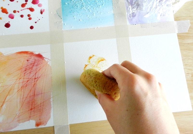 watercolor sponge texture