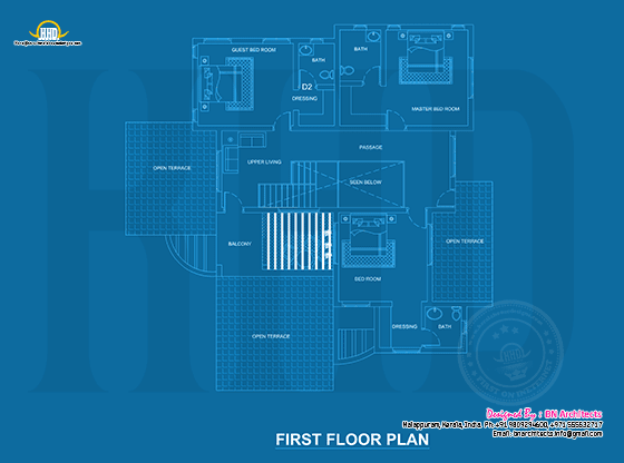 Blueprint of first floor