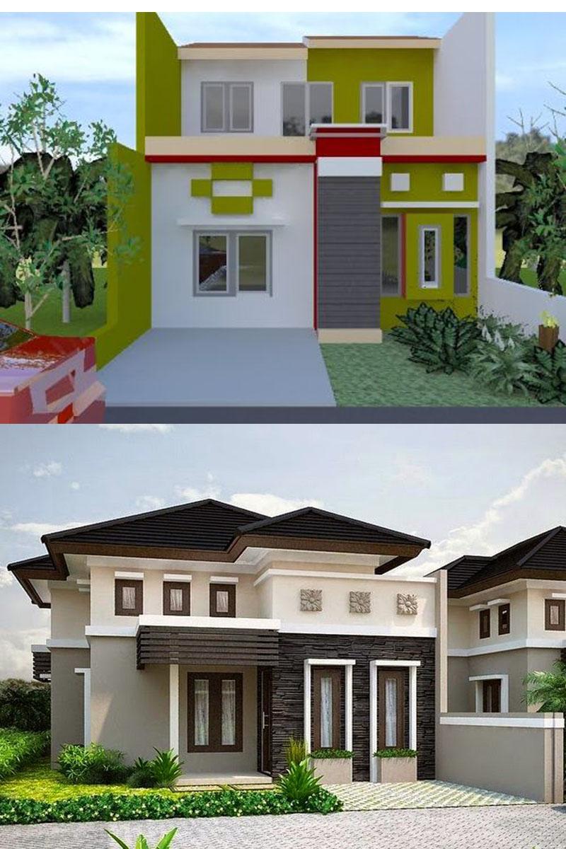 Kombinasi Warna Cat Tembok Bagian Luar Desain Rumah Minimalis