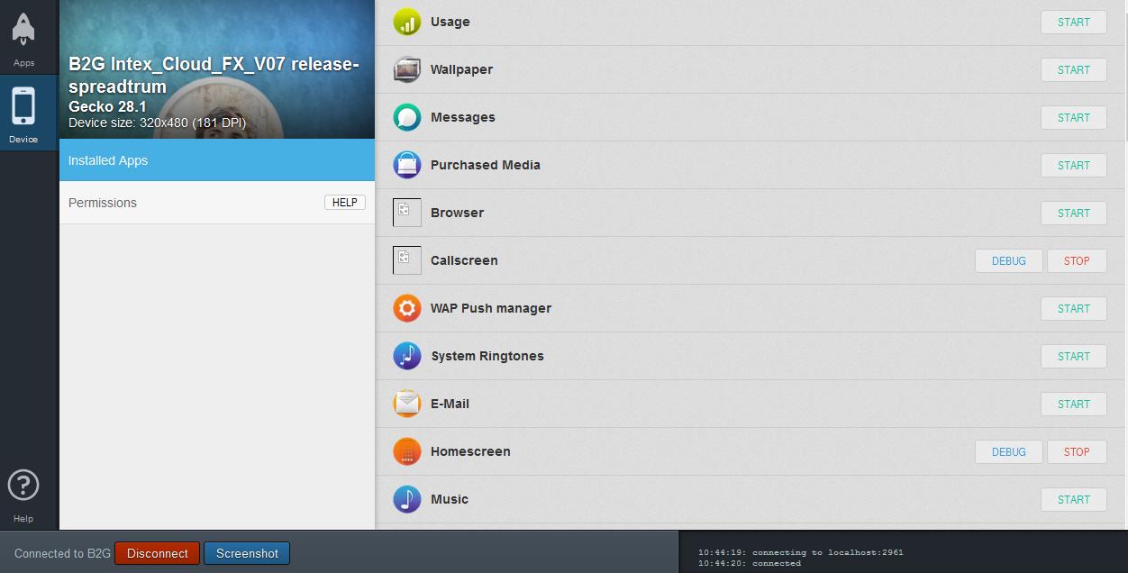 Remote Debugging Intex Cloud Fx  (Firefox OS) using ADB and