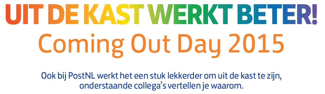 Postnl Pride Blog Coming Out Day 2015