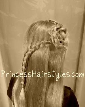 braided hair flower hairstyle