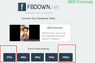 fbdown video download quality