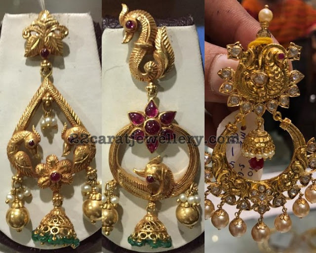 Antique Chandbalis with Pearls