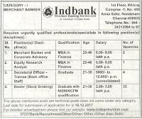 Ind Bank Recruitment 2018 @www.indbankonline.com