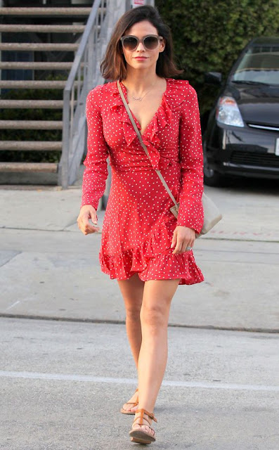 What to wear for spring, #JennaDewanTatum, red sundress, street style