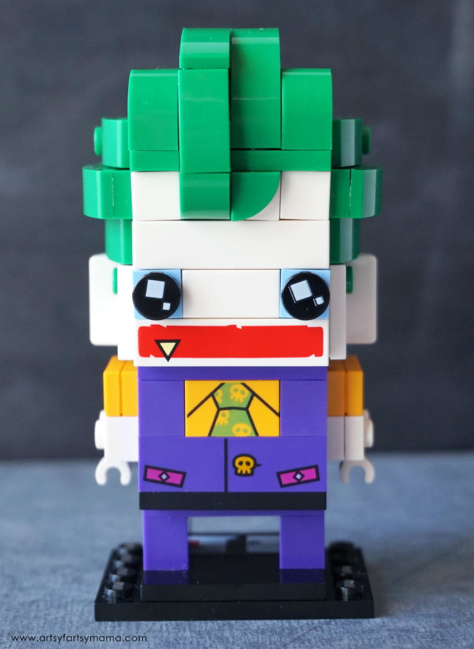 Build The Joker BrickHeadz character from The LEGO Batman Movie!
