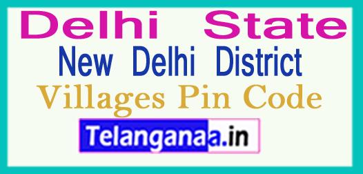 New Delhi District Pin Codes in Delhi State