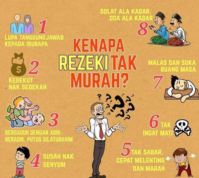 8 SEBAB REZEKI TAK MUDAH MASUK