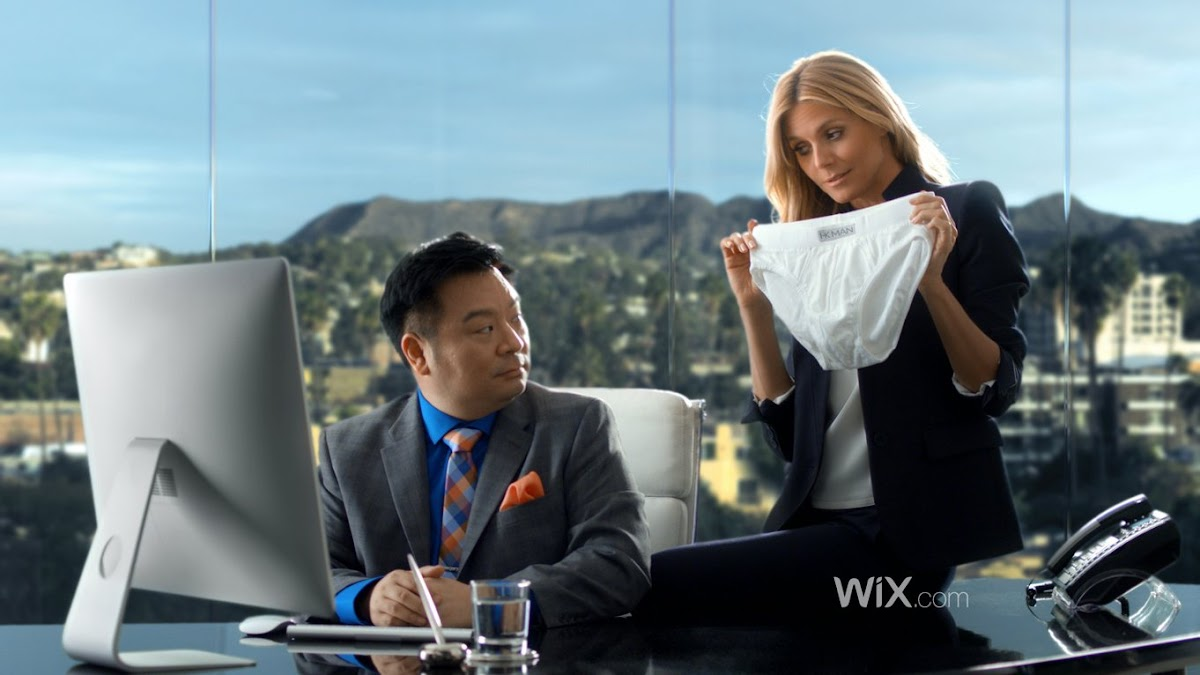 Brewster Parsons Collaborates Again With Committee LA For Wix.com In New Ad Featuring Super Model Heidi Klum