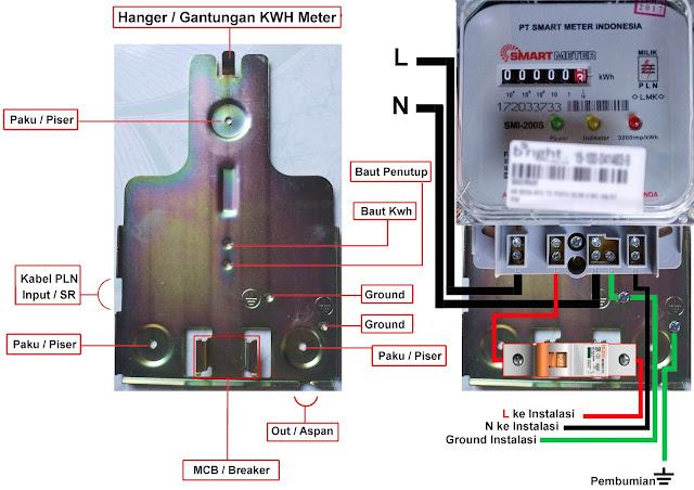 Cara Memasang Kwh Meter 1 Phase