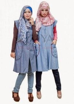 Model Baju Muslim Jeans Modern Terbaru