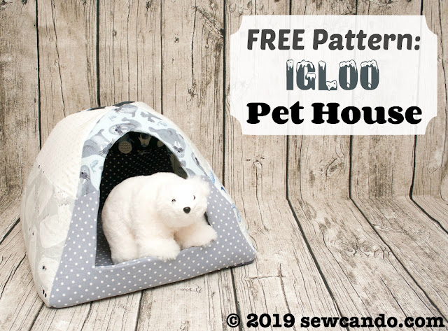 photo Sew Can Do pet toy fabric igloo