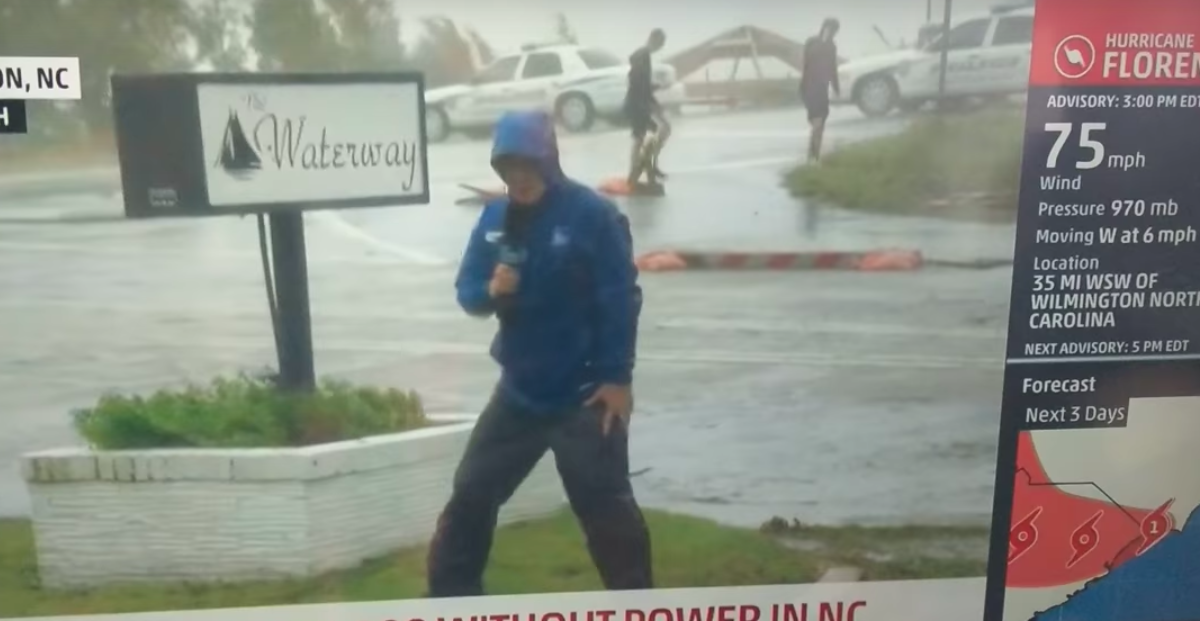 hurricane florence, weather channel