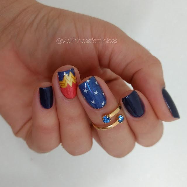 Azul estrelado Mulher maravilha risqué + Sindy Francesinhas