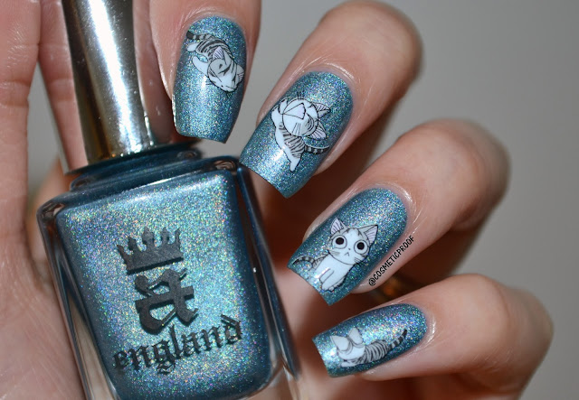 A England Symphony in Blue and Silver Swatch Review
