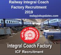 Railway Integral Coach Factory Recruitment 2019