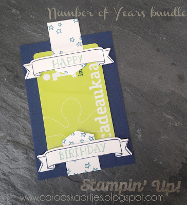 Stampin' Up! producten kun je bestellen via carooskaartjes@hotmail.nl