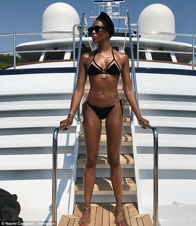 Naomi Campbell Rules Out Pregnancy Rumours With Very Bikini Snap - Image ~ Naijabang