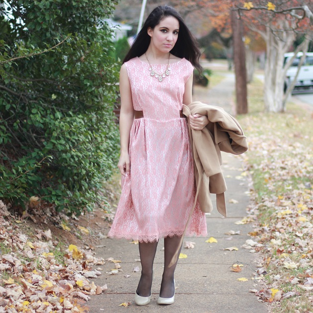 Zaful Pink Lace Dress