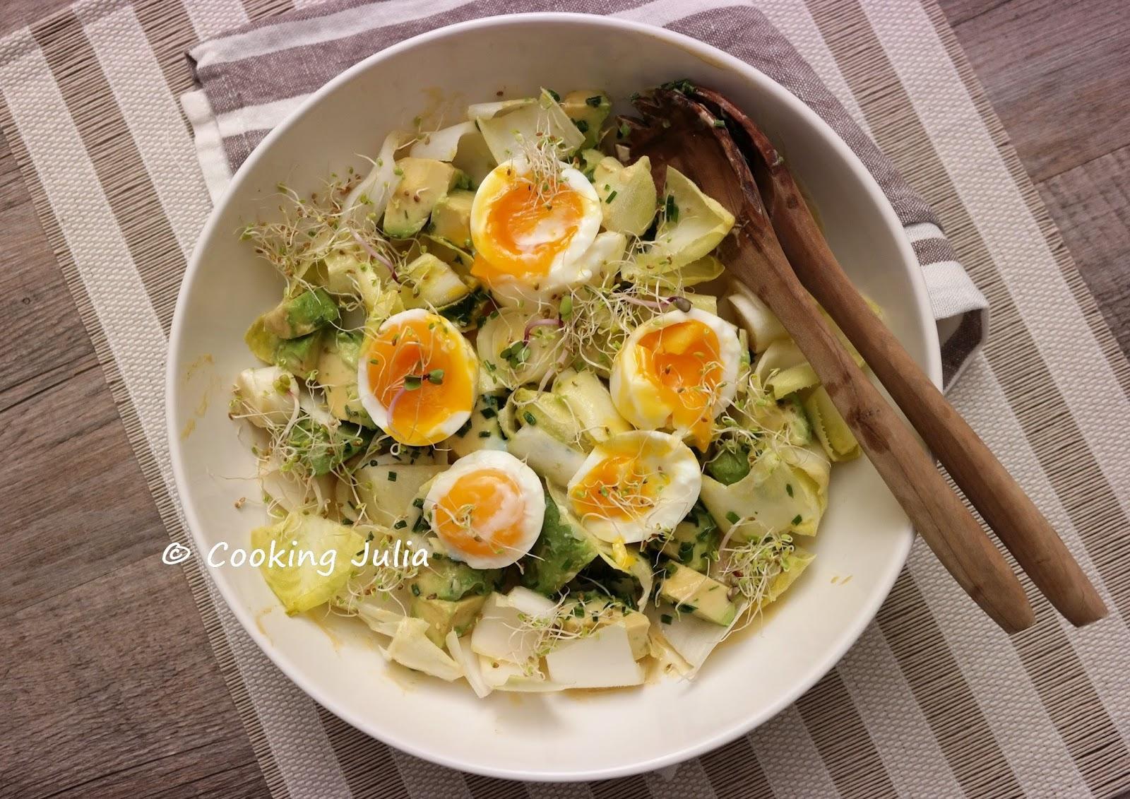 cooking julia salade d 39 endives aux ufs mollets. Black Bedroom Furniture Sets. Home Design Ideas