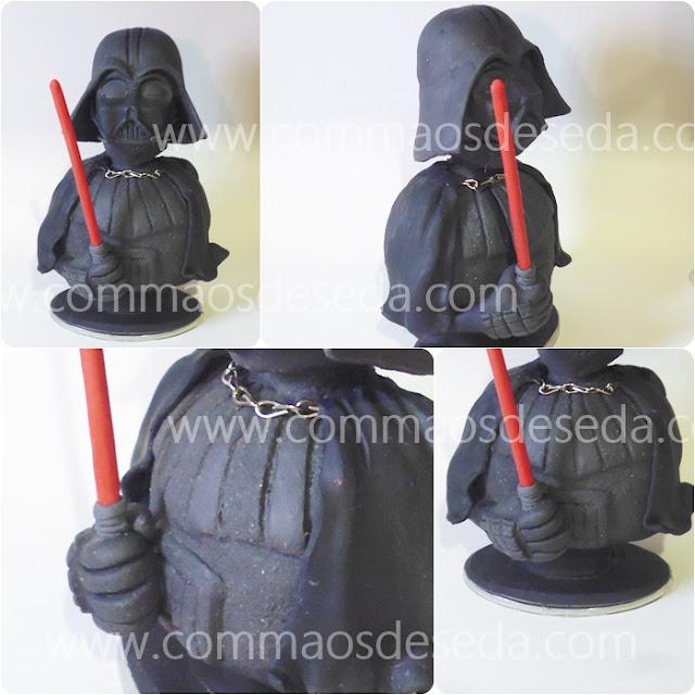 Darth Vader de biscuit - Busto topo de bolo