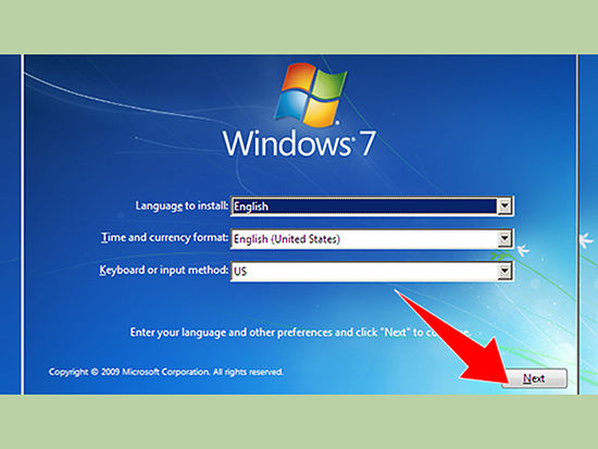 how to format a laptop windows 7
