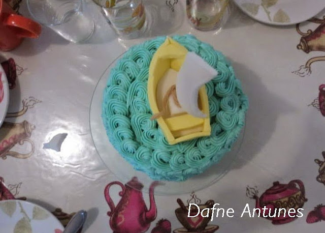 Bolo barco a vela - boat cake buttercream
