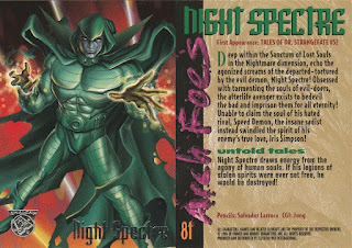 Night Spectre trading card from Amalgam set