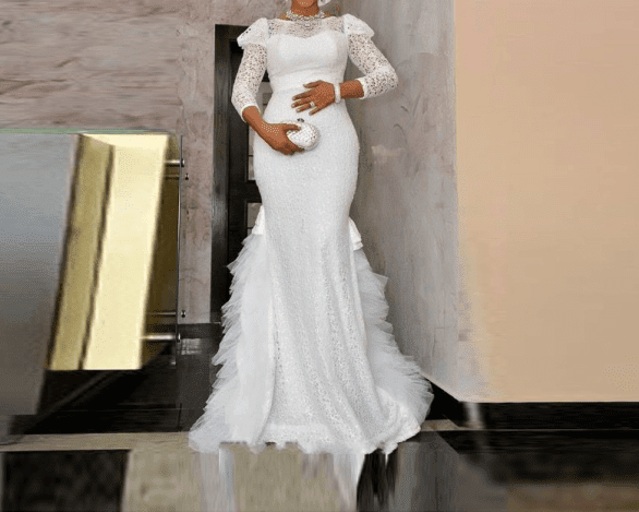 10 Latest Nigerian Wedding Dresses And Gowns At Different