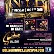 BollyGrooves Bollywood New Year's Eve Thursday Dec 31st 2015 at the Showbox (market)