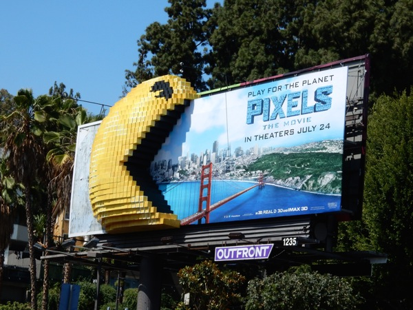 Special 3D PacMan Pixels movie billboard